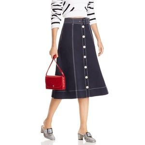 NWT Joie 'Maylay' Button-Down A-Line Skirt - 6